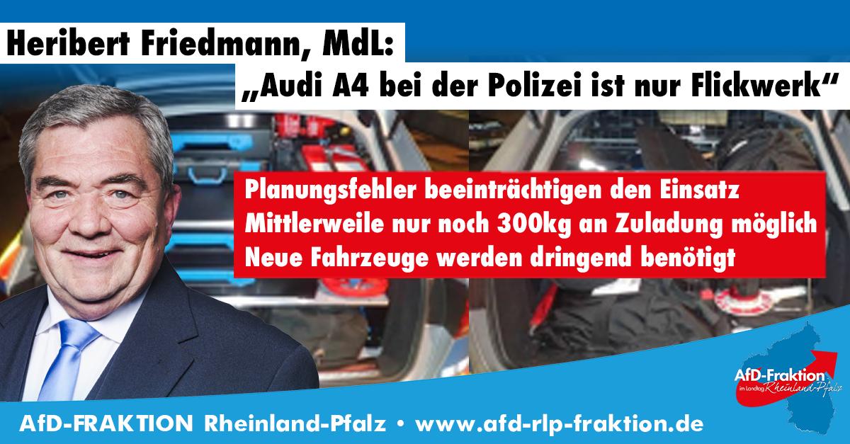 Audi A4 Polizei unzureichend